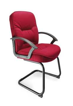 Picture of Office Chair Company Coniston Cantilever framed office chair - Wine