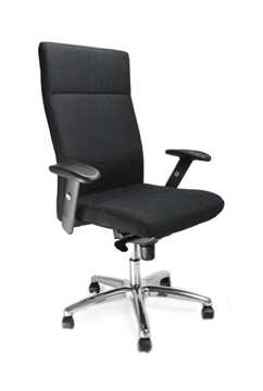 Picture of Office Chair Company Jester High back synchro with adjustable arms and chrome base - Black
