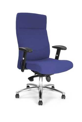 Picture of Office Chair Company Jester High back synchro with adjustable arms and chrome base - Blue