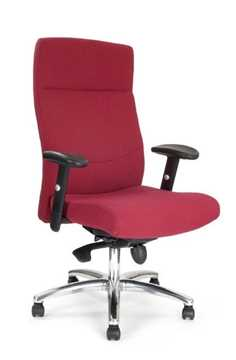 Picture of Office Chair Company Jester High back synchro with adjustable arms and chrome base - Wine