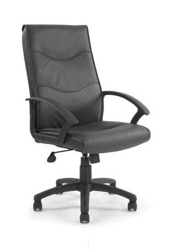 Picture of Swithland High back leather faced executive armchair - Black