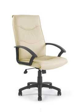 Picture of Swithland High back leather faced executive armchair - Cream