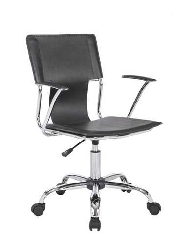 Picture of Trento Swivel arm chair - Black