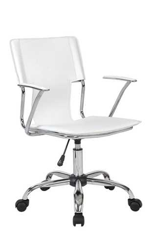 Picture of Trento Swivel arm chair - White