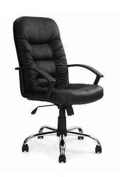 Picture of Office Chair Company Leather face Executive with Chrome Base - Black