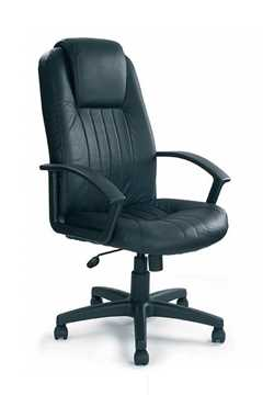 Picture of Rutland- Oversized high back leather faced executive armchair - Black