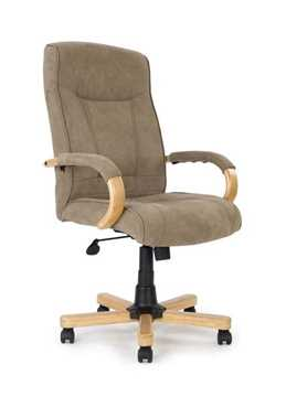 Picture of Office Chair Company Troon Micro fibre oak with oak effect arms & base - Mushroom