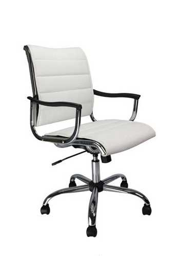 Picture of Office Chair Company Carbis Leather effect designer chair - White