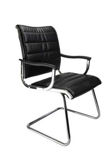 Picture of Office Chair Company Carbis cantilever chrome frame leather effect - Black