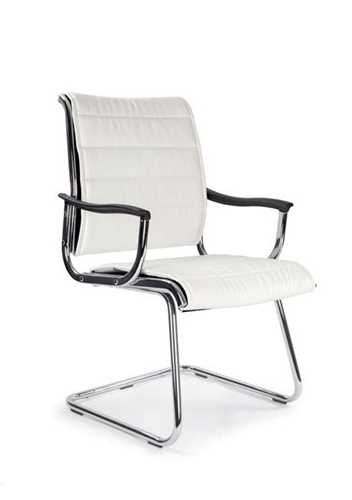 Picture of Office Chair Company Carbis cantilever chrome frame leather effect - White