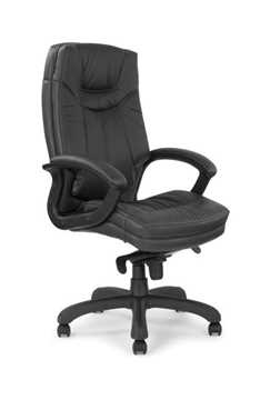 Picture of Office Chair Company Hudson Leather faces with contrasting stitching - Black