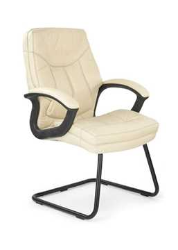 Picture of Office Chair Company Hudson Cantilever framed leather faced with contrasting stitching - Cream