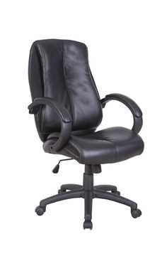 Picture of Office Chair Company Omega - Leather faced managers chair- Black