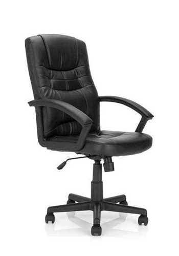 Picture of Office Chair Company Darwin leather faces armchair - Black