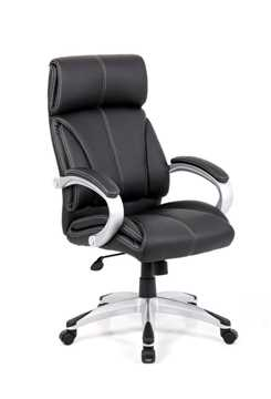 Picture of Office Chair Company Cloud- Leather faced managers chair- Black