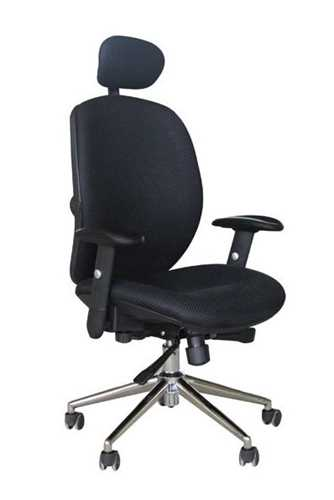 Picture of Office Chair Company Pegasus High Back Mesh with Headrest - Black & Black