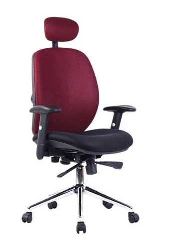Picture of Office Chair Company Pegasus High Back Mesh with Headrest - Black & Wine