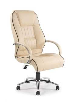 Picture of Office Chair Company Dijon Leather Armchair with Contrasting Piping - Cream