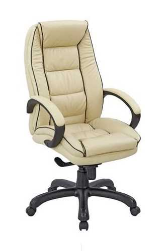 Picture of Office Chair Company Truro Leather Armchair with Contrasting Piping - Cream