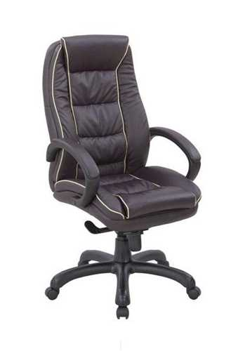Picture of Office Chair Company Truro Leather Armchair with Contrasting Piping - Burgundy