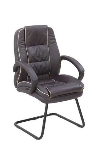 Picture of Office Chair Company Truro Cantilever Visitors Chair with Contrasting Piping - Burgundy