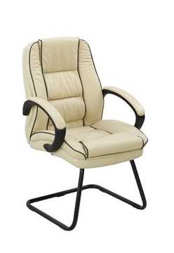 Picture of Office Chair Company Truro Cantilever Visitors Chair with Contrasting Piping - Cream