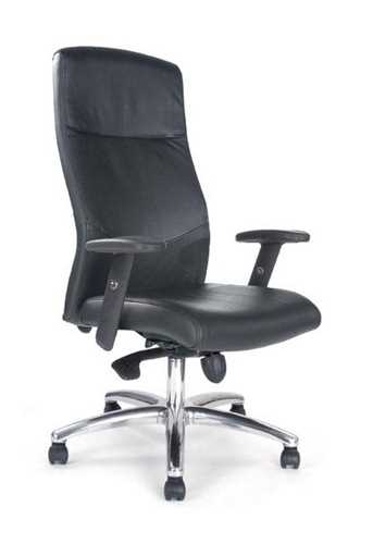 Picture of Office Chair Company Jester Shirt-Tail Synchro Chair With Chrome Base - Black