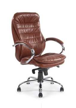 Picture of Office Chair Company Leather Chair with Chrome Base - Tan