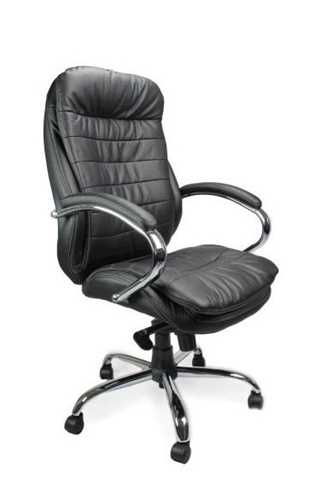 Picture of Office Chair Company Sandown Leather Chair with Chrome Base - Black