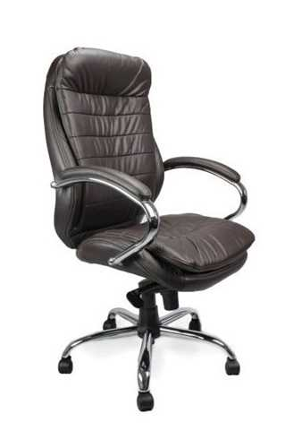 Picture of Office Chair Company Sandown Leather Chair with Chrome Base - Brown