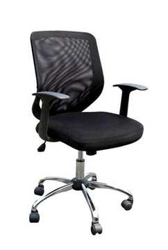 Picture of Office Chair Company Ranger Mesh with Chrome Base - Black