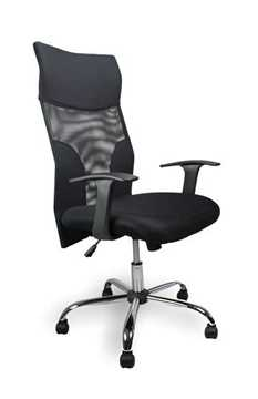 Picture of Office Chair Company Aries Mesh Shirt Tail Chair with Chrome Base - Black