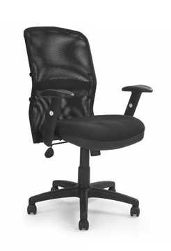 Picture of Office Chair Company Jupiter Mesh Chair with Adjustable Lumbar Support - Black