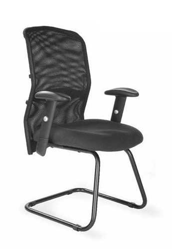 Picture of Office Chair Company Jupiter Cantilever Mesh Back Visitors Chair - Black