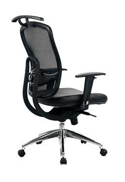 Picture of Office Chair Company Freedom Mesh Chair with coat-hanger and Chrome Base - Black