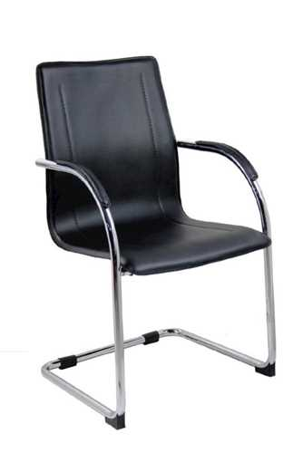 Picture of Office Chair Company Aston Visitors Chair with Chrome Base - Black