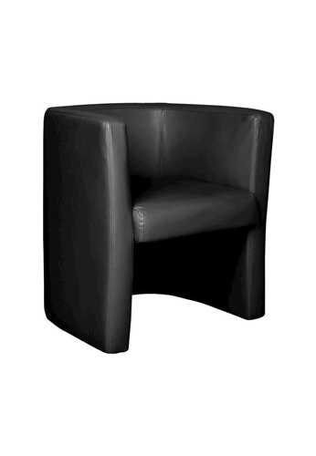Picture of Office Chair Company Milano Leather Faced Tub Chair - Black