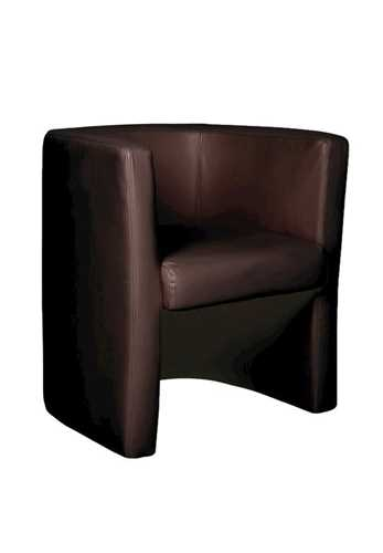 Picture of Office Chair Company Milano Leather Faced Tub Chair - Brown