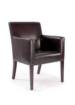 Picture of Office Chair Company Metro Leather Effect Cubed Armchair - Brown