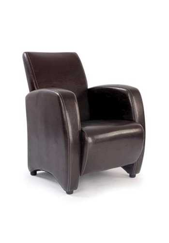 Picture of Office Chair Company Metro Leather Effect High Back Lounge Armchair - Brown