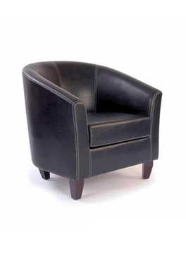 Picture of Office Chair Company Metro - Leather effect single seat tub chair - Brown