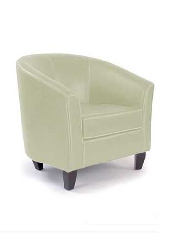 Picture of Office Chair Company Metro - Leather effect single seat tub chair - Cream