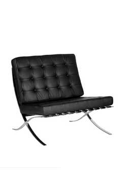 Picture of Office Chair Company Valencia Leather Faced Single Seat Sofa - Black
