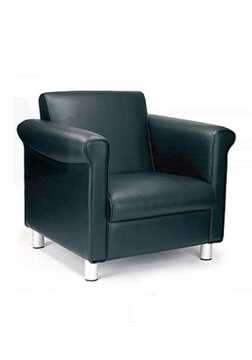 Picture of Office Chair Company Florence 1st Quality Leather Armchair - Black