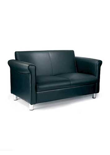 Picture of Office Chair Company Florence 1st Quality Leather Two Seater Sofa - Black