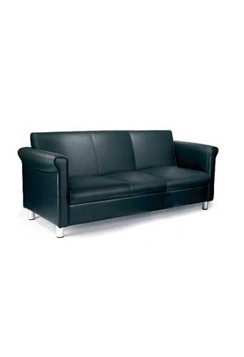 Picture of Office Chair Company Florence 1st Quality Leather Three Seater Sofa - Black
