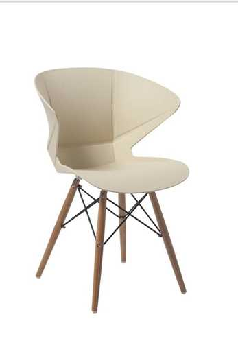 Picture of Office Chair Company Mocha Stylish Lightweight Poly Chair - Cream (2 CHAIRS PER PACK)