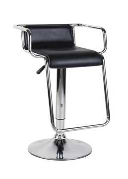 Picture of Office Chair Company Miami - PU Upholstered Chrome Framed Modern Barstool - Black (2 PER BOX)