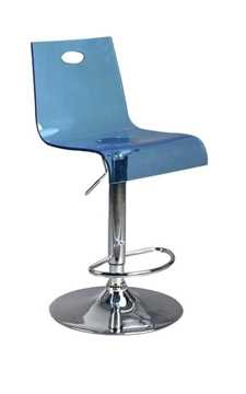Picture of Office Chair Company Florida Modern translucent bar stool - Blue