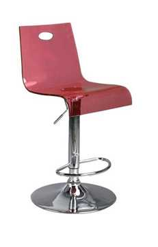 Picture of Office Chair Company Florida Modern translucent bar stool - Red